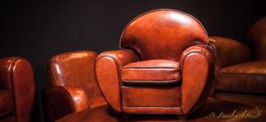 fauteuil club cuir véritable en cuir pure basane