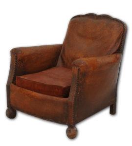 Ancien fauteuil club 1930 à restaurer