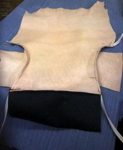 piqûre du tissu et du cuir