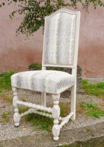 Restauration chaise Louis XIII