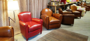 fauteuil club fumoir rouge