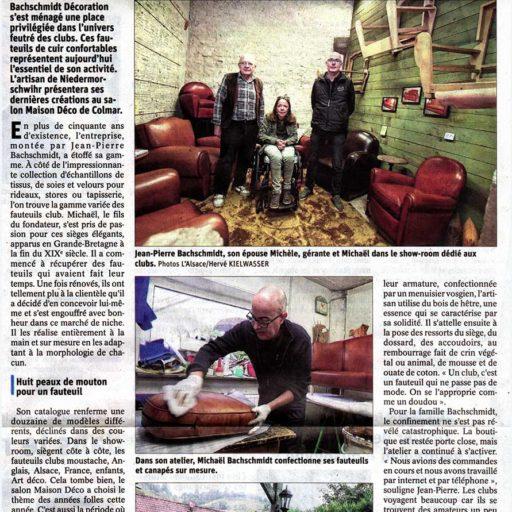 Revue de presse salon Maison Déco à Colmar